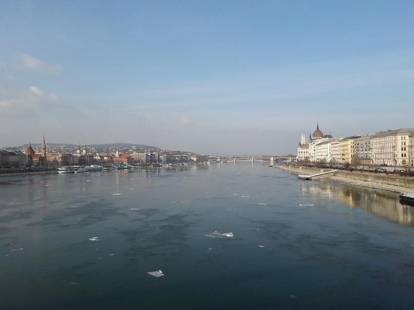 Будапешт зимой Дунай