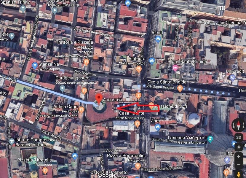 Сант Эльмо фуникулер на карте