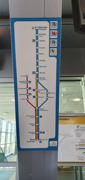 расписание поезда из аэропорта Бари в ценр города