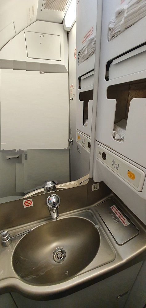 как пользоваться туалетом в самолете