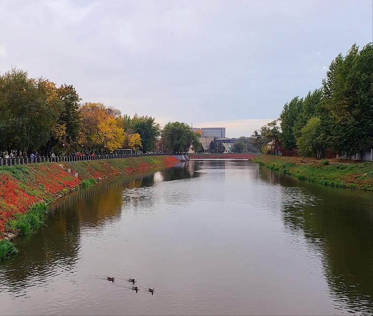 Сквер Стрелка Харьков осень