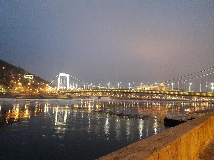 Будапешт набережная фото зимой