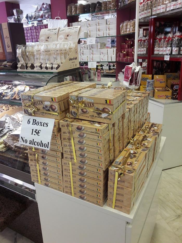 цена конфет в Бельгии