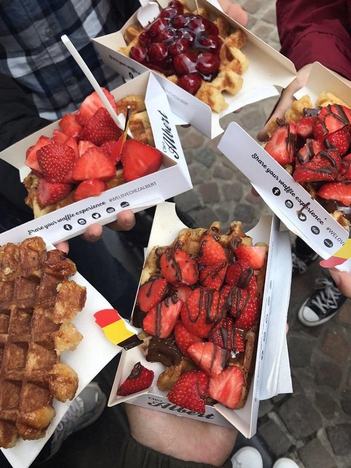 бельгийские вафли фото